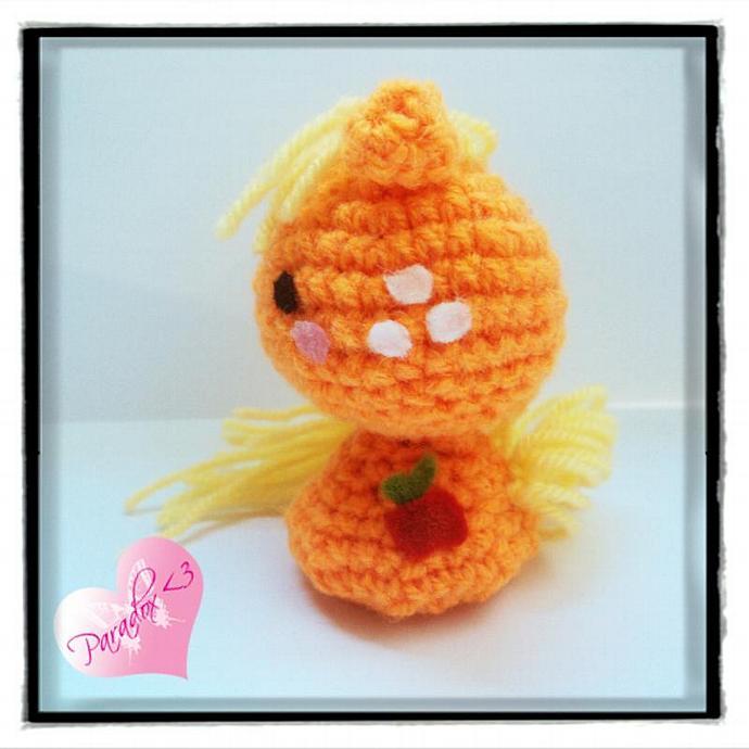 Handmade Crochet Applejack My Little Pony Amigurumi Toy Plush Kawaii Japan MLP