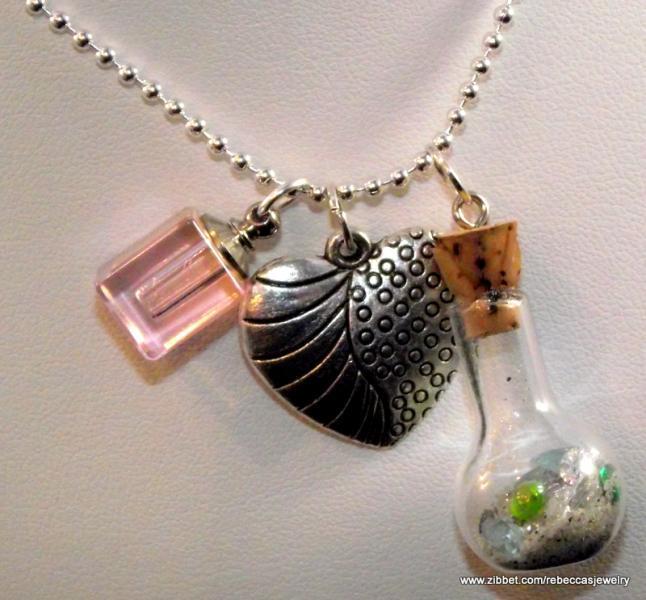 "Genie Bottle of  ""Gems"" Pendant"