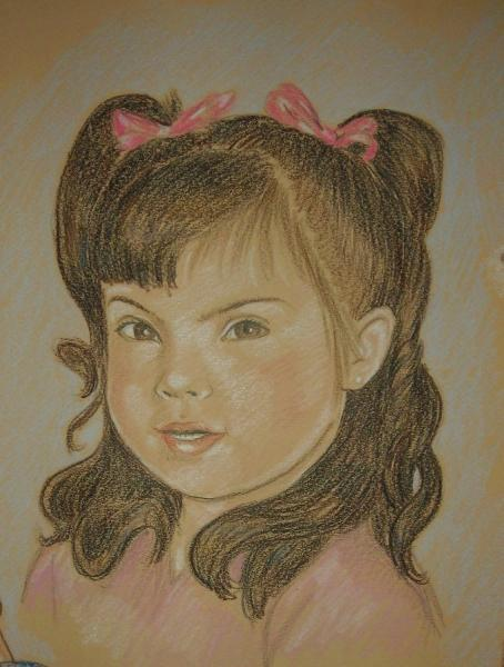 Portrait in Color Pencil on Color Paper - From Your Photo