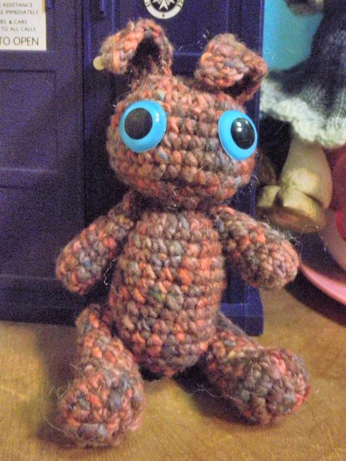 pink and mauve speckled bunny