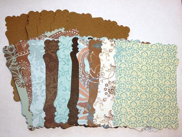 Beautiful Blue and brown  MEDIUM Victorian mini chipboard kit CM30