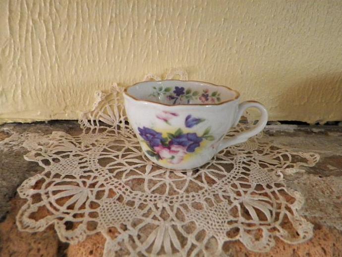 July Miniature Teacup