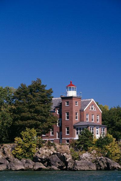 The South Bass Island Lighthouse on Lake Erie