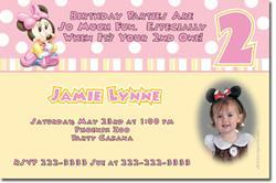 Minnie Mouse Birthday Invitations **DOWNLOAD JPG IMMEDIATELY**