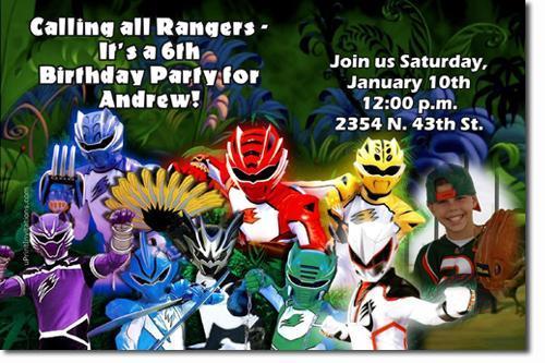 Power Rangers Samurai Birthday – Power Rangers Birthday Invitations