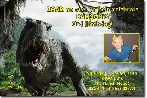 DINOSAUR BIRTHDAY INVITATIONS (click for additional designs)