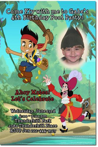 Jake and the Never Land Pirates Birthday Invitations (add'l designs)