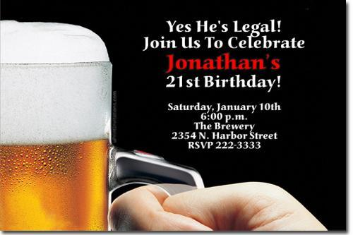 Beer Birthday Invitations (click for additional designs)