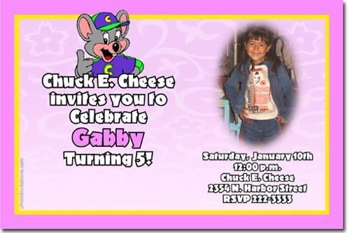 chuck e cheese birthday invitations (all | uprintinvitations, Birthday invitations