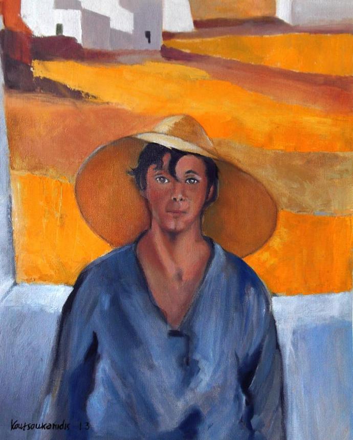 The Straw Hat - after Nikolaos Lytras
