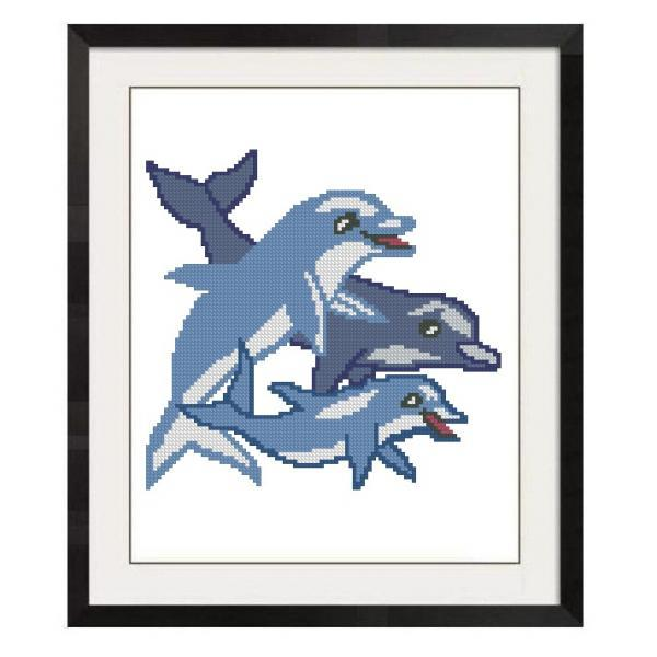 ALL STITCHES - DOLPHINS CROSS STITCH PATTERNS .PDF -693