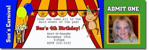 Clown Birthday Invitations -click for add'l designs (Download JPG NOW)