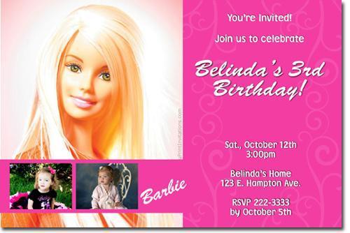 barbie birthday invitations templates free
