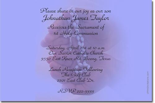 FIRST HOLY COMMUNION INVITATIONS *ANY COLOR SCHEME* (Download JPG Immediately)