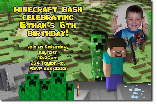 how to make minecraft invitations
