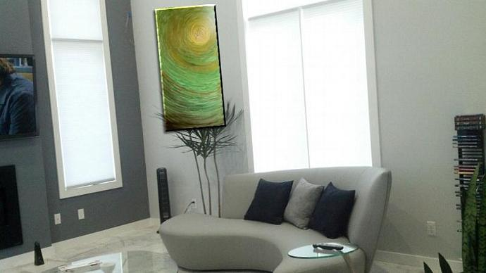 Two 48x24 CUSTOM Abstract Paintings for Pete only please