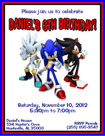 Sonic The Hedgehog Personalized Birthday by ...