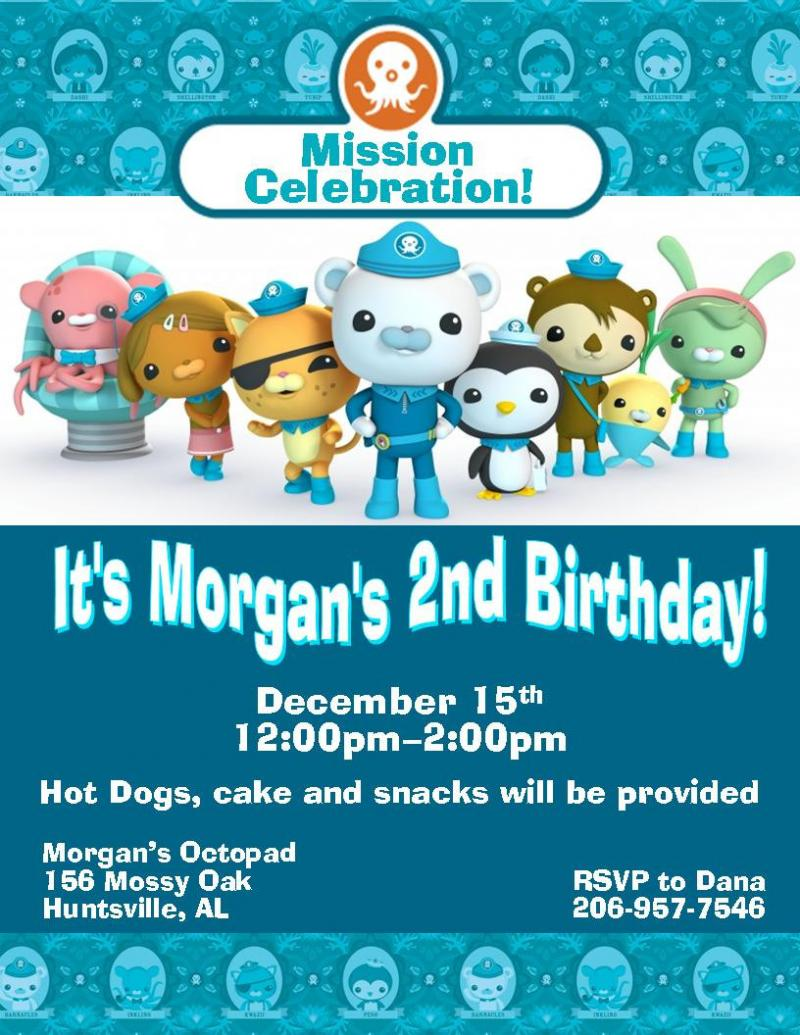 Octonauts Birthday Invitations can inspire you to create best invitation template