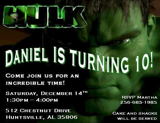 gallery_hero_3458711 original the incredible hulk personalized birthday thenotecardlady,Hulk Birthday Invitations