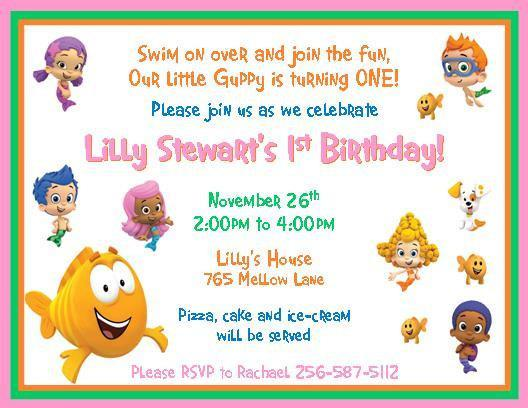 12 PRINTED Bubble Guppies Personalized thenotecardlady