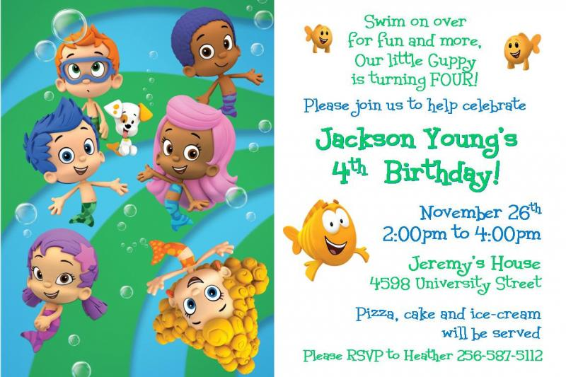 Bubble Guppies Birthday Invitation Digital by ...