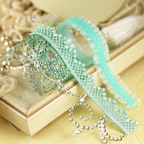 Prima Say it in Crystals Self Adhesive Jewel Art  Ribbon Borders - Melody