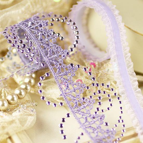 Prima Say it in Crystals Self Adhesive Jewel Art  Ribbon Borders - Sweet Fairy