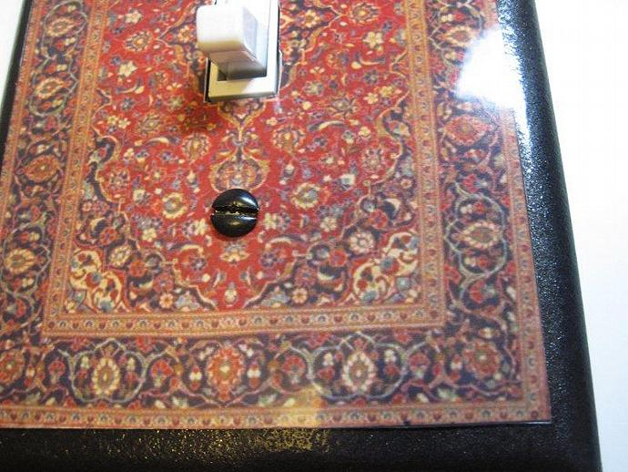Big Lebowski Inspired Persian Rug Light Switch Plate   Ties The Room  Together