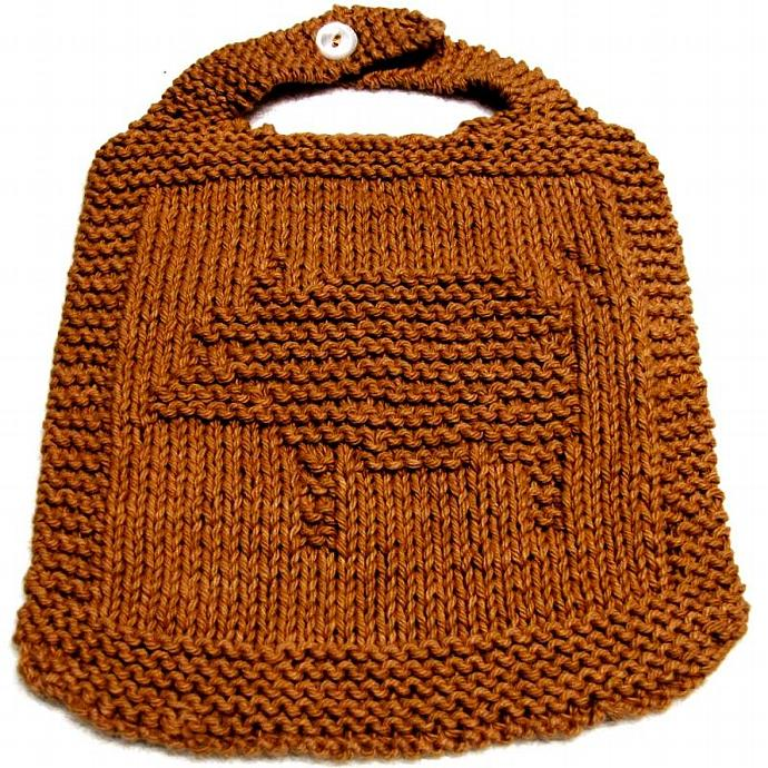 Knitting BIB Pattern  - PIG -  PDF