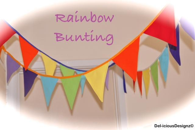 Flag Bunting, Pennant - Rainbow, Bedroom, Birthday