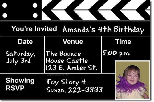 Movie Red Carpet Birthday Invitations (Download JPG Immediately)