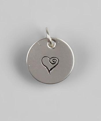 "1/2"" Sterling Silver Heart Pendant - Hand Stamped"