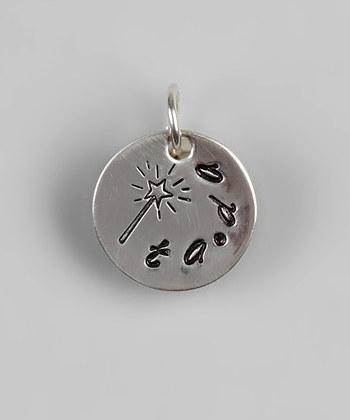 "1/2"" Sterling Silver Magic Wand ""ta-da"" Pendant - Hand Stamped"