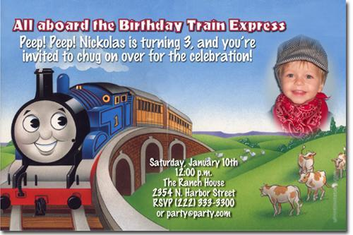 Thomas the Tank Engine Birthday – Thomas Train Birthday Invitations