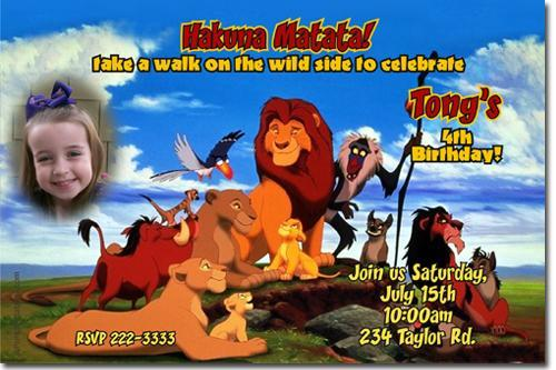 Lion King Birthday Invitations **Download JPG Immediately**