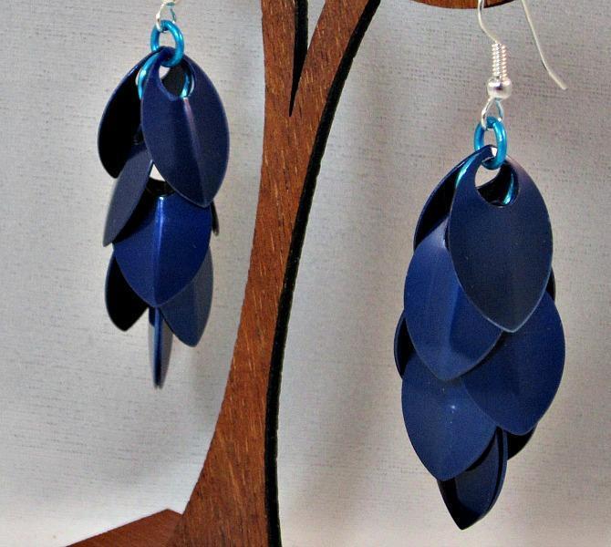 Blue Velvet Rain Earrings