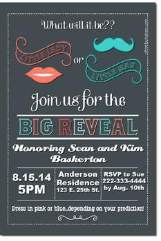 Gender Reveal Baby Shower Invitations **DOWNLOAD JPG IMMEDIATELY**