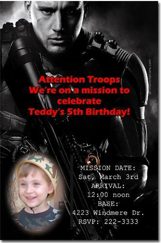 Paintball Birthday Invitations **DOWNLOAD JPG IMMEDIATELY**