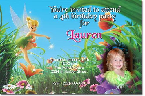Tinkerbell Birthday Invitations by uPRINTinvitations on Zibbet