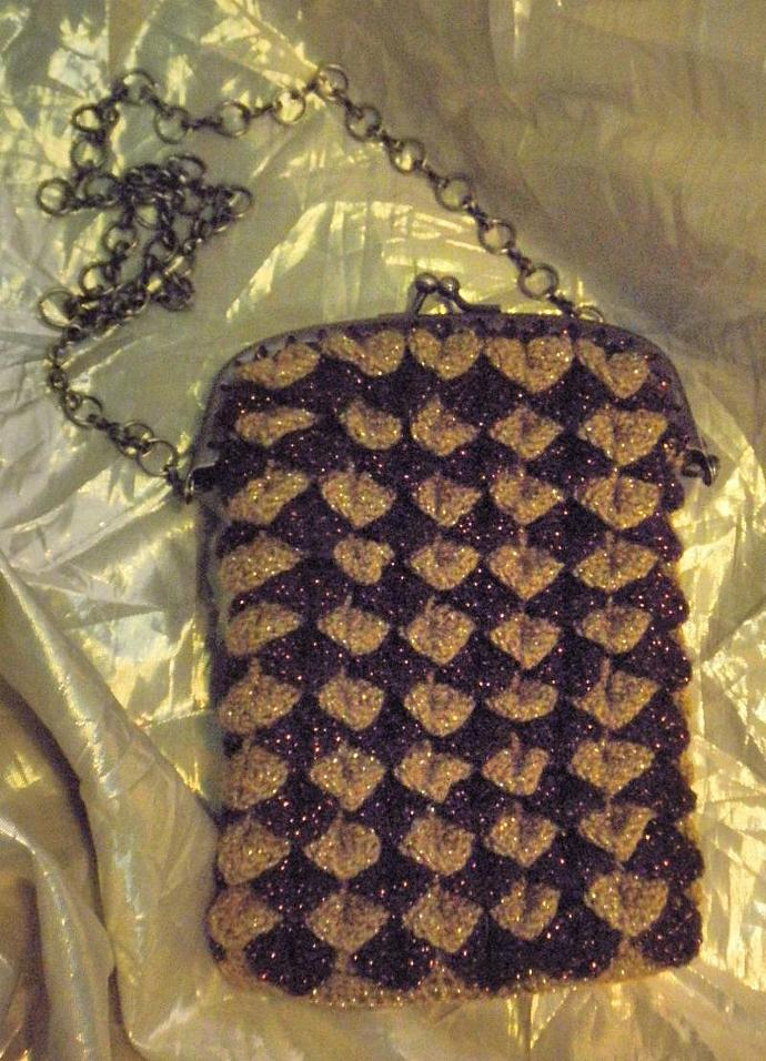 Steampunk / Art Deco Evening bag / Dice bag