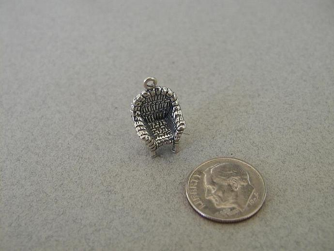 Wicker Sterling Silver Charm