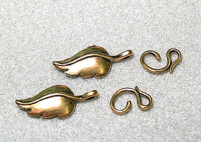 Designer Leaf  Clasps- hook and eye closure