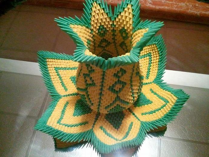 3d origami Vase Lotus   akvees - photo#9