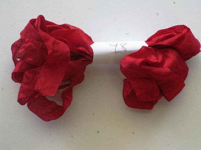 5 yds Hand crinkled shabby chic seam binding SB48