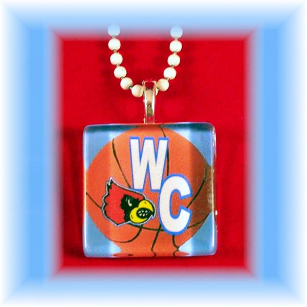 Glass Tile Pendant Webb City Cardinals BASKETBALL FREE SHIPPING