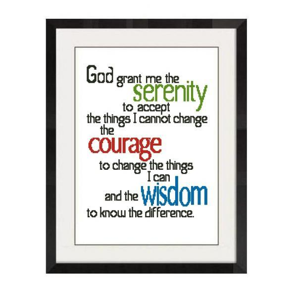 ALL STITCHES - SERENITY PRAYER CROSS STTICH PATTERN .PDF -687