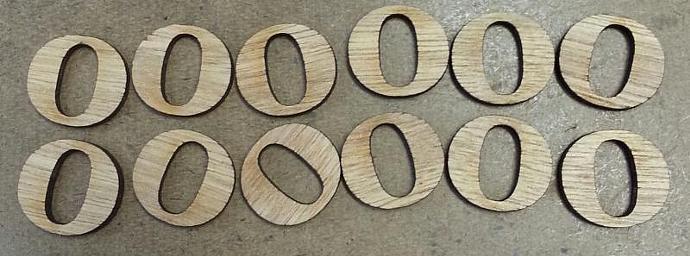 "Wood alphabet low cap""o"""