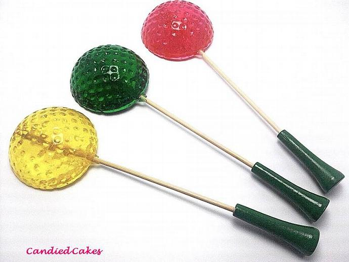 10 GOLF BALL LOLLIPOPS