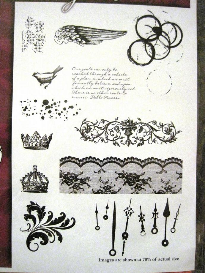 Ornate Accesories  stamp set shabby chic