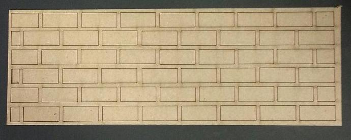 Chipboard brick wall no.2 -2 pieces